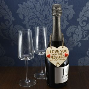 'I Love you more than Prosecco' Handmade Wine Bottle Charm
