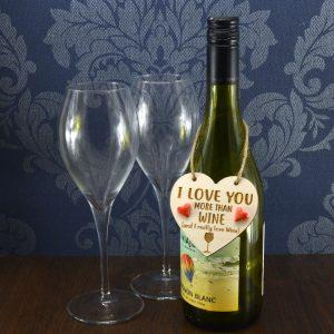 'I Love you more than Wine' Handmade Wine Bottle Charm
