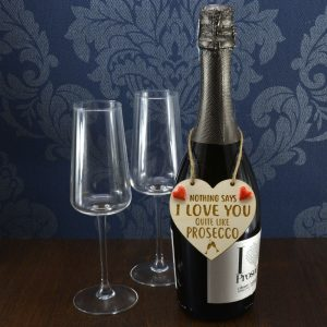 'Nothing says I Love You quite like Prosecco' Handmade Wine Bottle Charm