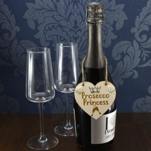'Prosecco Princess' Handmade Wine Bottle Charm Tag Gift