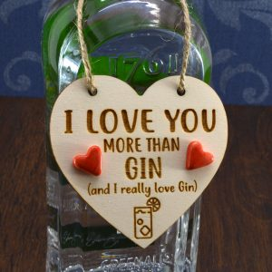 'I Love you more than Gin' Handmade Gin Bottle Charm
